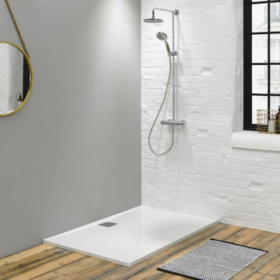 Blu-Gem2 1000 x 800mm Rectangular 25mm Stone Resin Shower Tray Lifestyle Image 3