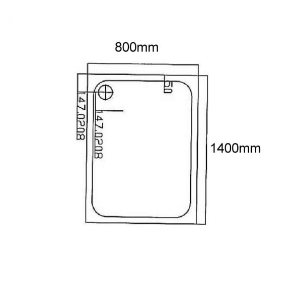 Blu-Gem2 1400 x 800 Rectangle Shower Tray Specification