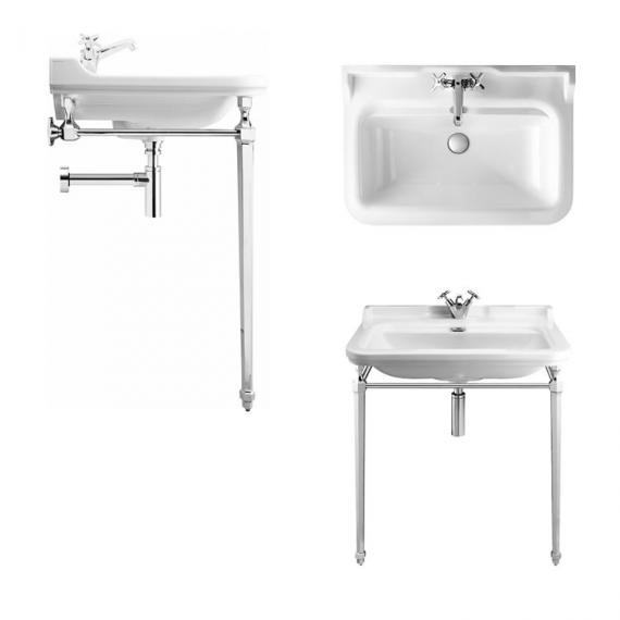 Bauhaus Waldorf 80 Single Tap Hole Basin with Console