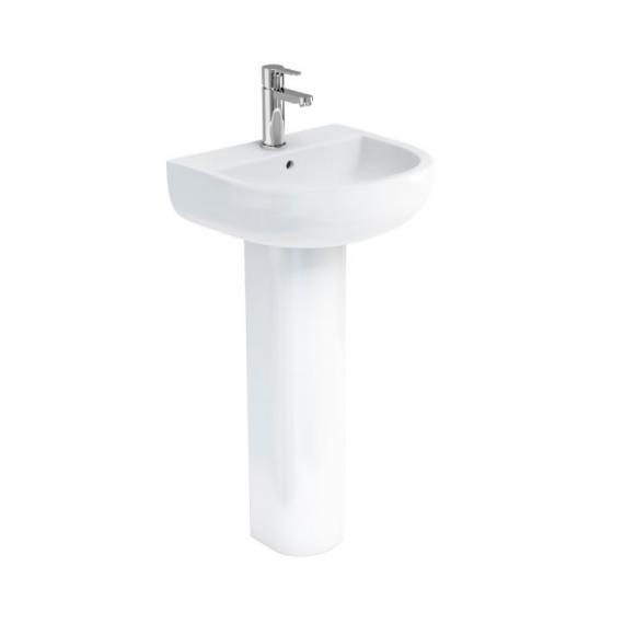 Britton Bathrooms Compact 450mm Basin & Full Pedestal