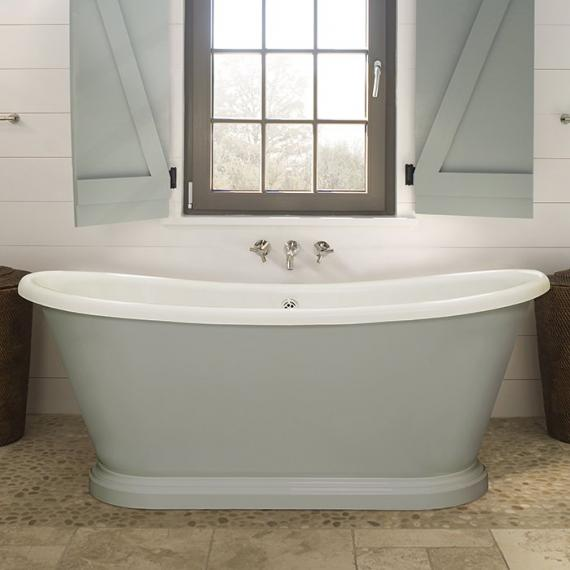 Bon BC Designs 1700mm Acrylic Freestanding Boat Bath