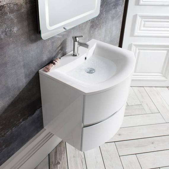 Bauhaus Svelte White Gloss 60 Vanity Unit & Basin