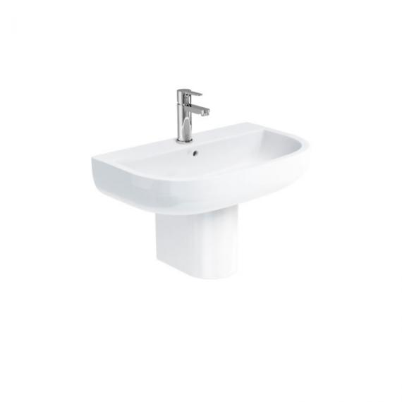 Britton Bathrooms Compact 650mm Basin & Semi Pedestal