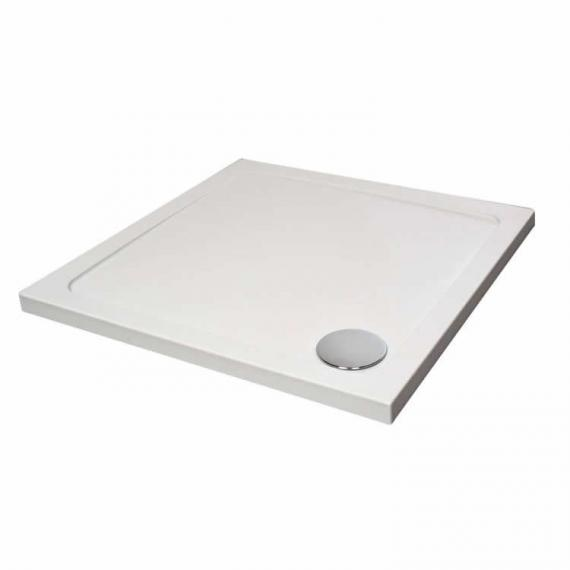 Aquaglass 800 x 700mm Rectangle Shower Tray & Waste