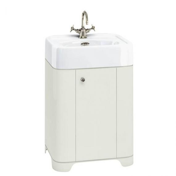 Arcade Sand 600mm Floorstanding Vanity Unit & Basin - 1TH