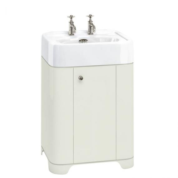 Arcade Sand 600mm Floorstanding Vanity Unit & Basin - 2TH