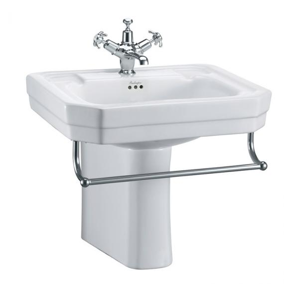 Burlington Victorian Medium Basin, Semi Pedestal & Rail