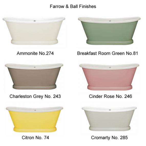 Photo of BC Designs 1700mm Acrylic Freestanding Boat Bath Finishes Page 1