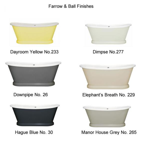 Photo of BC Designs 1700mm Acrylic Freestanding Boat Bath Finishes Page 2