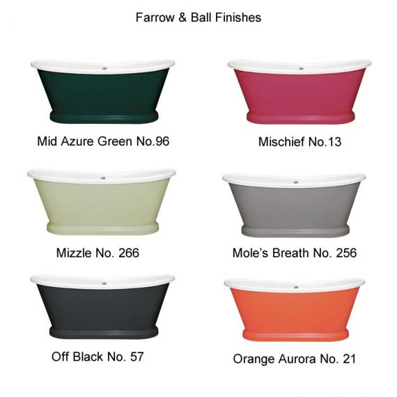 Photo of BC Designs 1700mm Acrylic Freestanding Boat Bath Finishes Page 3