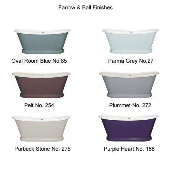 Photo of BC Designs 1700mm Acrylic Freestanding Boat Bath Finishes Page 4