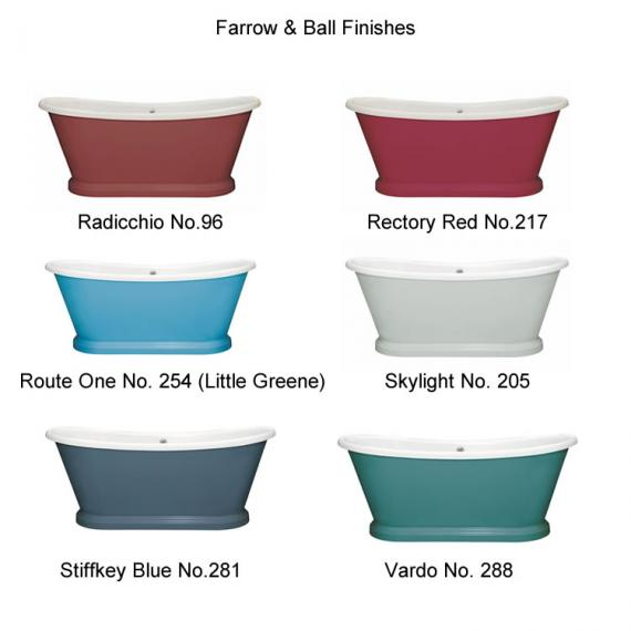 Photo of BC Designs 1700mm Acrylic Freestanding Boat Bath Finishes Page 5