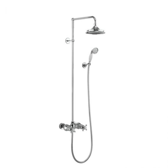 Burlington Eden Exposed Shower Bar, Rigid Riser & Shower Rose
