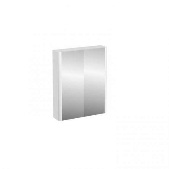 Aqua Cabinets Compact White 600mm Double Door Mirror Cabinet