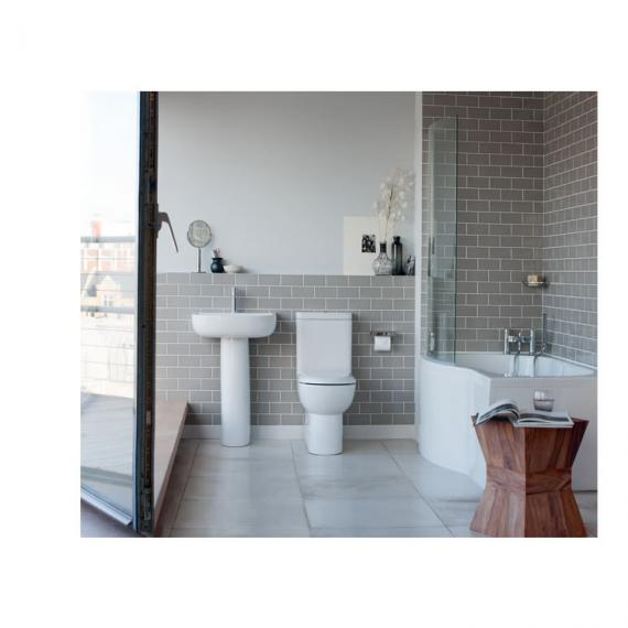 Britton Bathrooms Compact Close Coupled WC & Soft Close Seat