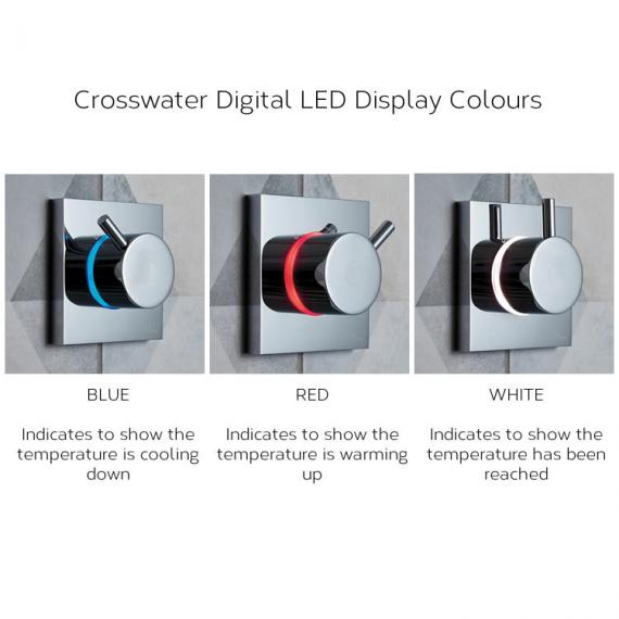 Crosswater Belgravia Crosshead Dual Outlet Digital Shower Valve with Pump - Low Pressure