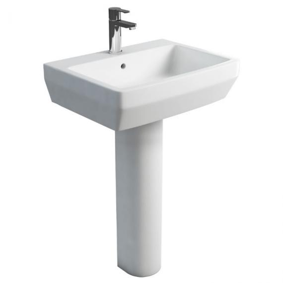 Britton Bathrooms Cube S20 60cm Basin and Round Pedestal