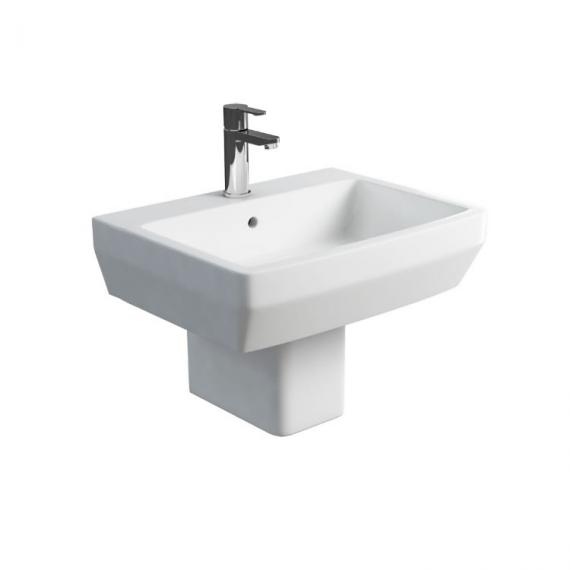 Britton Bathrooms Cube S20 60cm Basin and Semi Pedestal