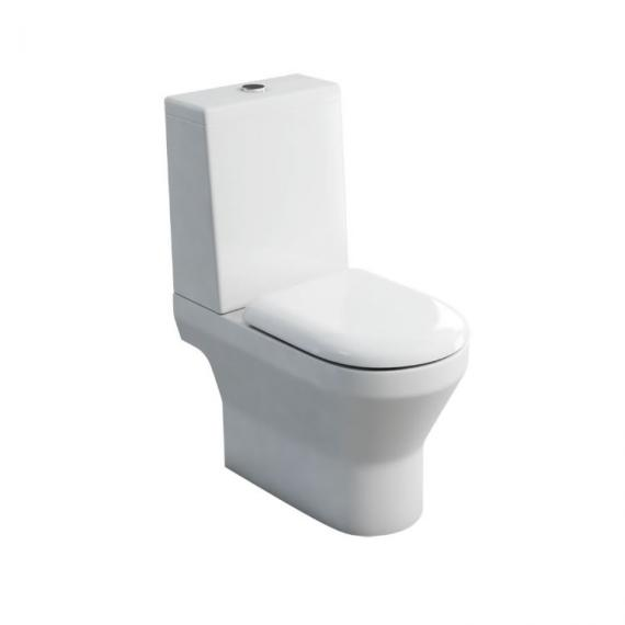 Britton Bathrooms Curve Open Back Close Coupled WC & Seat