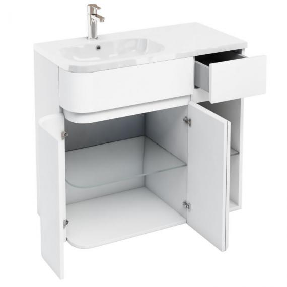 Aqua Cabinets D450 Arc White 900mm Combination Unit & Basin