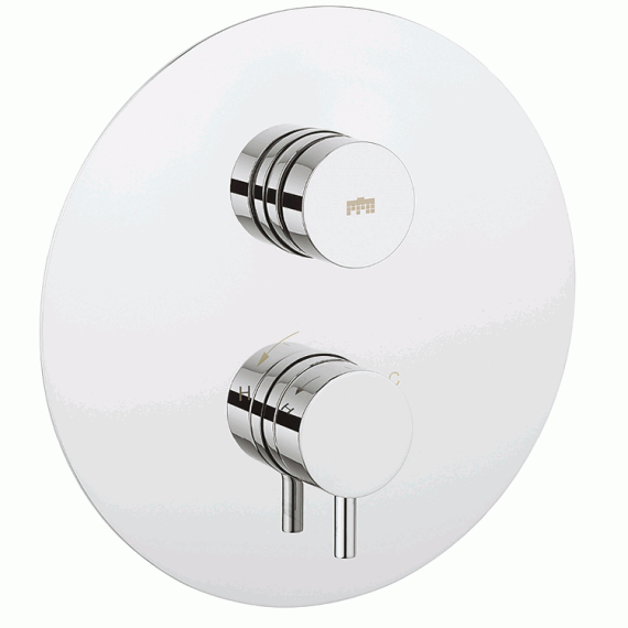 Crosswater Round Thermostatic Shower Valve
