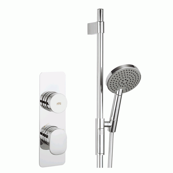 Crosswater Dial Valve 1 Control With Pier Trim Shower Head