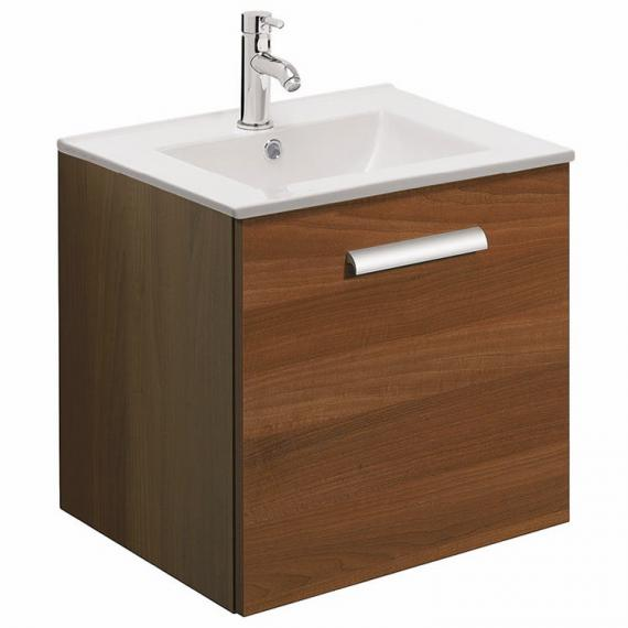 Bauhaus Design Plus 50 Walnut Drawer Unit & Ceramic Basin
