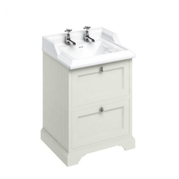 Burlington Sand 650mm Freestanding Unit & 2 Tap Hole Basin