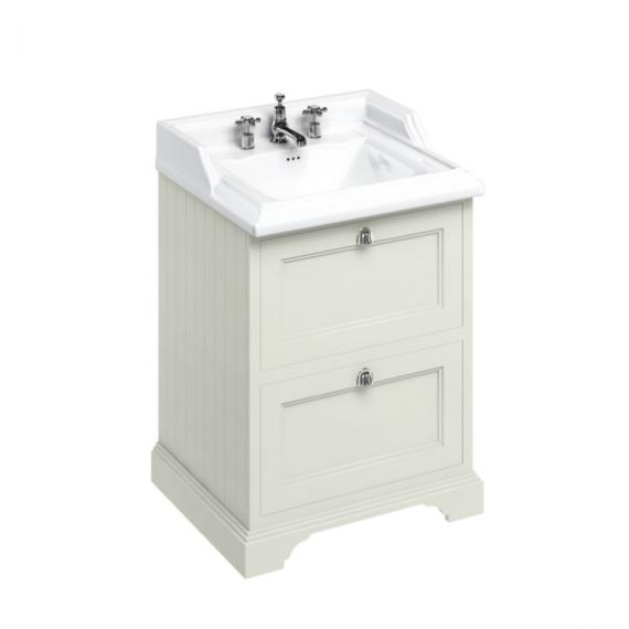 Burlington Sand 650mm Freestanding Unit & 3 Tap Hole Basin