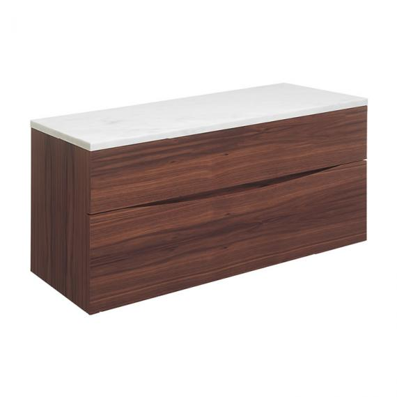 Bauhaus Glide II American Walnut 100 Unit and Carrara Marble Worktop