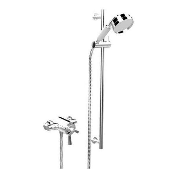 Heritage Gracechurch Exposed Shower with Deluxe Flexible Riser Kit Chrome Finish