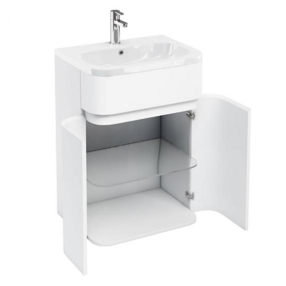 Aqua Cabinets D450 Gull Wing 600mm White Unit & Basin
