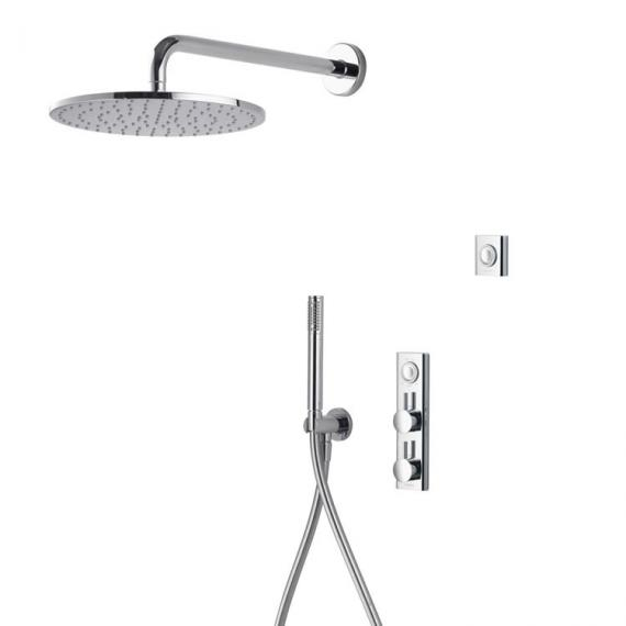 Aqualisa HiQu Dual Outlet Smart Shower with 300mm Round Head & Handset