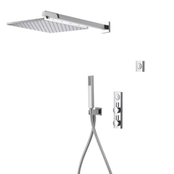 Aqualisa HiQu Dual Outlet Smart Shower with 300mm Square Head & Handset