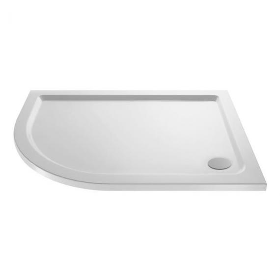 Hudson Reed Pearlstone Offset Quadrant 900mm x 760mm Shower Tray - Left Hand Image 1