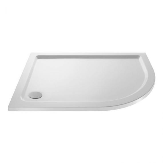 Hudson Reed Pearlstone Offset Quadrant 900mm x 760mm Shower Tray Right Hand Image 1
