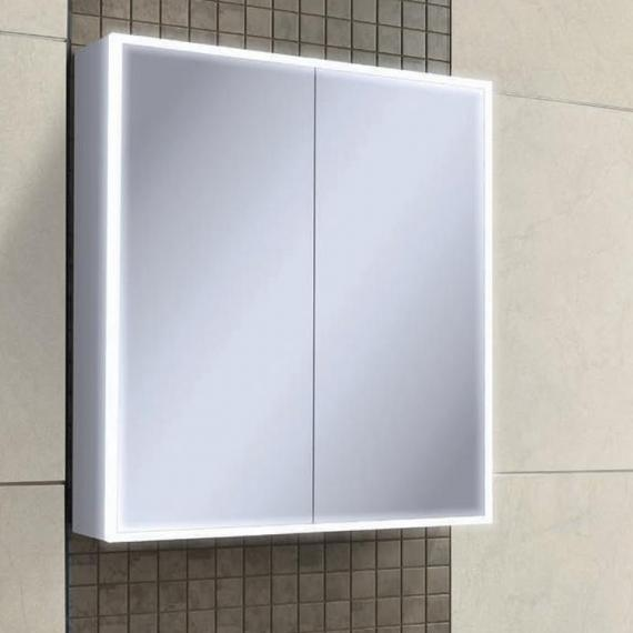 hib cabinets bathroom hib qubic 60 led aluminium bathroom cabinet sanctuary 16271