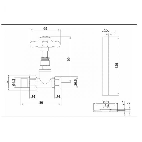 Burlington Straight Radiator Valves Specification