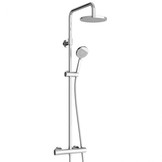 Britton Bathrooms Round Exposed Thermostatic Shower Valv