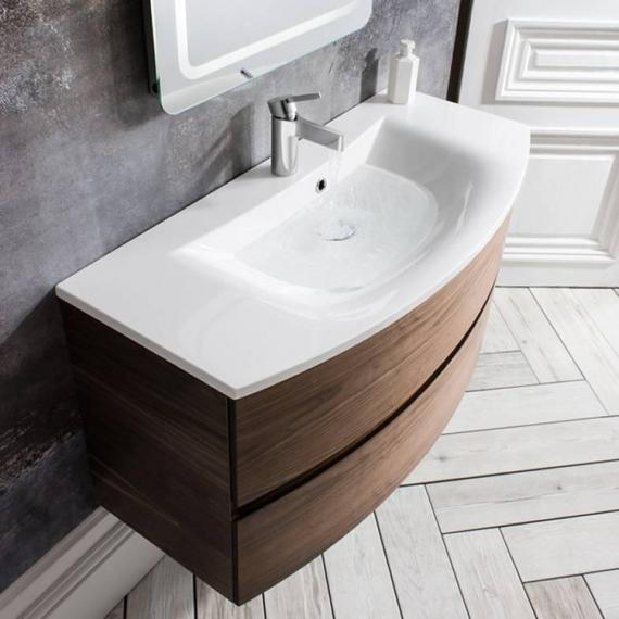Video of Bauhaus Svelte American Walnut 100 Vanity Unit & Basin