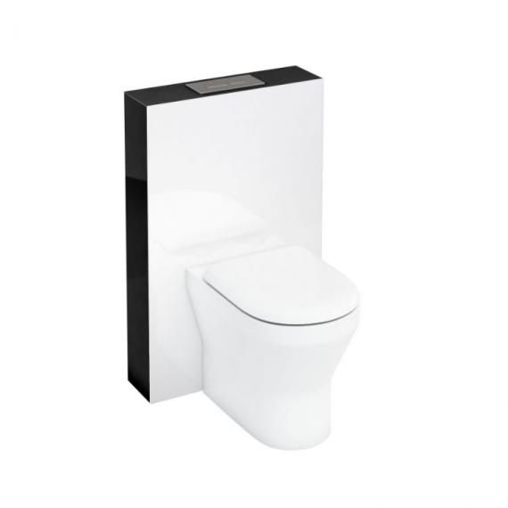Aqua Cabinets D300 Black 600 Back to Wall WC Tablet & Flushplate