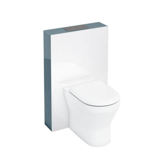 Aqua Cabinets D300 White 600 Back to Wall WC Tablet & Flushplate