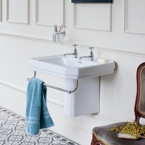 Burlington Victorian Large Basin, Semi Pedestal & Towel Rail