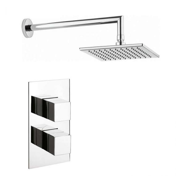 Crosswater Water Square Shower Head with Twin Shower Valve ...