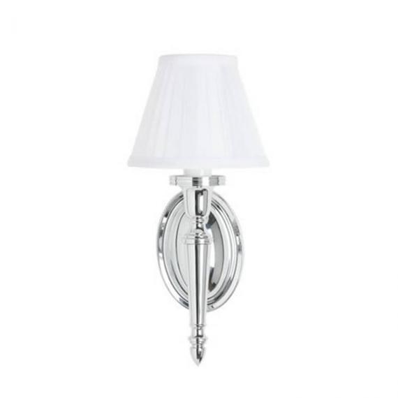 Arcade Oval Base with Fine Pleat Shade Wall Light