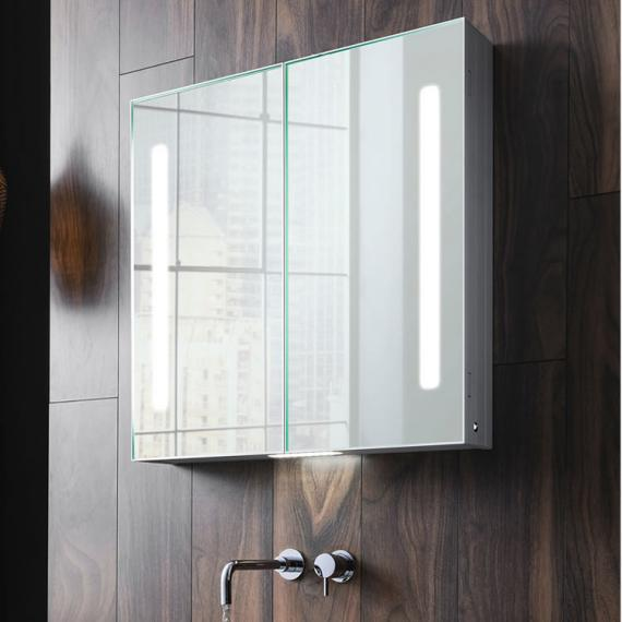 Bauhaus allure 700mm led illuminated mirrored cabinet mirrored bauhaus allure 700mm led illuminated mirrored cabinet aloadofball Image collections