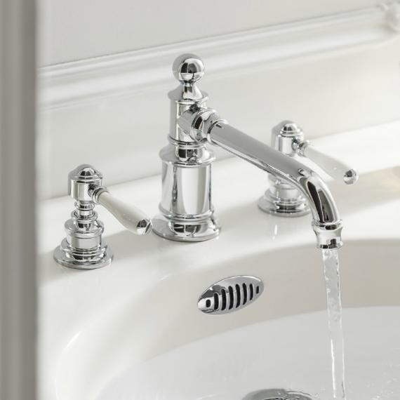 Arcade Chrome Lever Three Tap Hole Basin Mixer with Choice of Handle