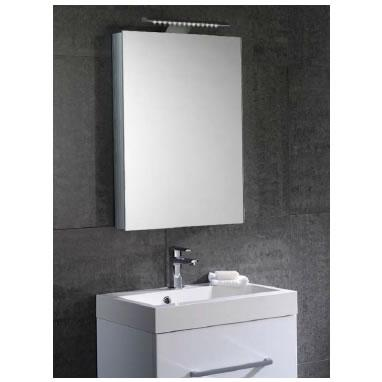 Aura 50cm Mirror Bathroom Cabinet With Lights