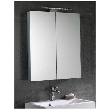 mere aura 60cm mirror bathroom cabinet with led lights