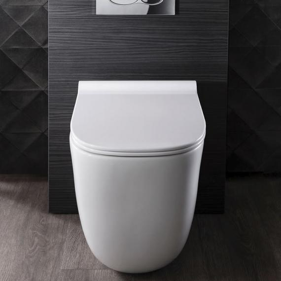 Bauhaus Wild Rimless Back To Wall WC and Thin Line Soft Close Seat